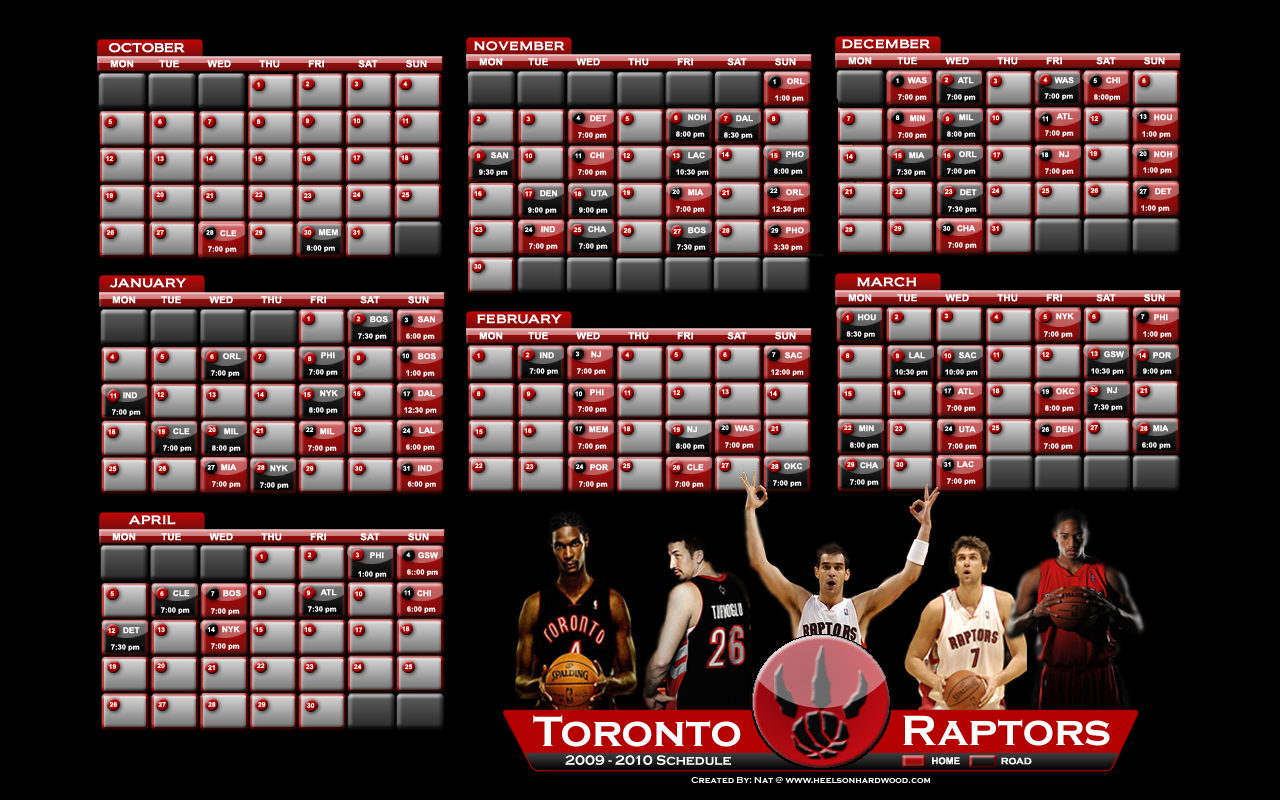 Raptors Schedule - Wallpaper - This is 1280 X 800 Raptors Schedule